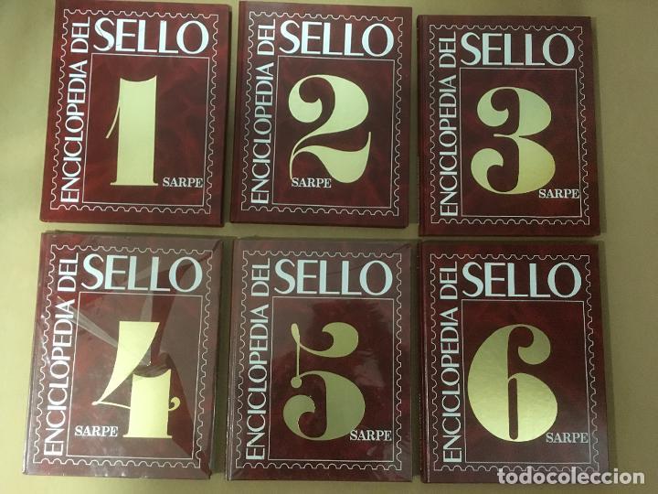ENCICLOPEDIA DEL SELLO / FILATELIA - SARPE - COMPLETA EN 6 TOMOS (Filatelia - Sellos - Catálogos y Libros)