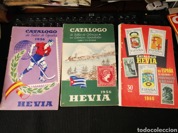 CATALOGOS HEVIA. 1956 1966 (Filatelia - Sellos - Catálogos y Libros)