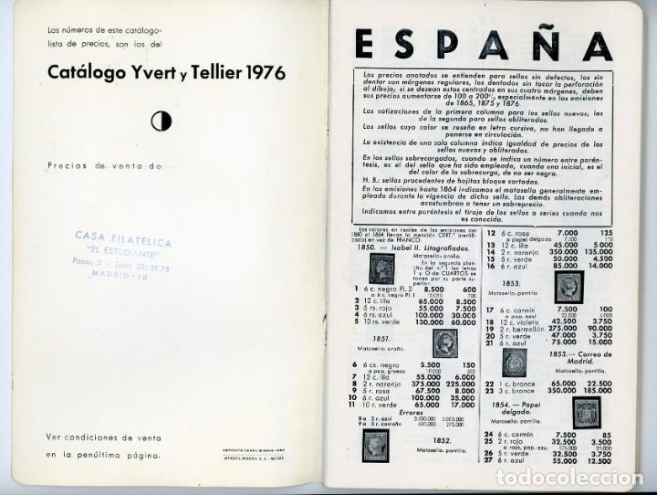 Sellos: Catálogo ilustrado España 1976. Ricardo de Lama.Yvert y Tellier 1976 - Foto 3 - 197724553