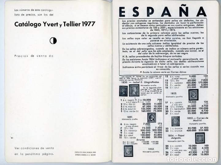 Sellos: Catálogo ilustrado España 1977. Ricardo de Lama. Yvert y Tellier - Foto 3 - 197738871