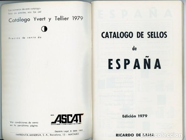 Sellos: Catálogo ilustrado España 1979. Ricardo de Lama. Yvert y Tellier - Foto 3 - 197739171