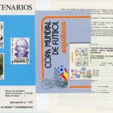 Sellos: 45 FOLLETOS DE FECHA DE EMISIÓN DE SELLOS DE LOS AÑOS 1982, 1983, 1984 Y 1985. LOS DE LAS FOTOS. Lote 197896516