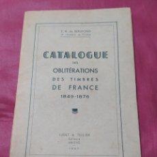 Sellos: CATÁLOGO ANTIGUO DE CORREOS FRANCÉS 1849 - 1876. Lote 198328407