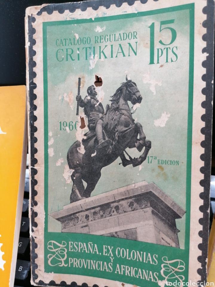 Sellos: Lote catálogos sellos 8 catálogos, una revista, destaca catálogo Critikian 1960 - Foto 5 - 200240732