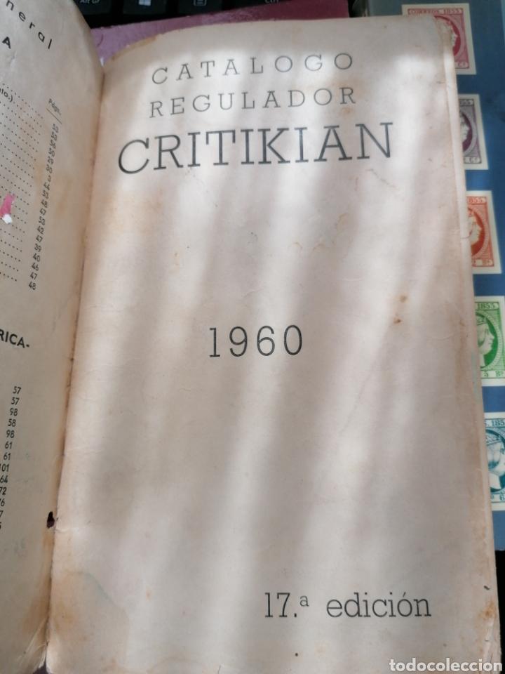 Sellos: Lote catálogos sellos 8 catálogos, una revista, destaca catálogo Critikian 1960 - Foto 7 - 200240732