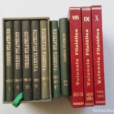 Francobolli: VALENCIA FILATELICA. 10 LIBROS TOMOS. I - X AÑOS 1961 - 1983 REVISTA TECNICA DE COLECCIONISMO TDK429. Lote 200363606