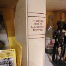 Sellos: ITINERARIO REAL DE LAS CARRERAS DE POSTAS FACSÍMIL EN CAJETIN NUEVO. Lote 204349766