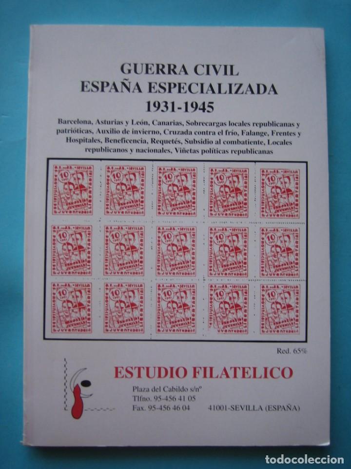 OFERTA - GUERRA CIVIL ESPAÑA ESPECIALIZADA 1931-1945 --- ESTUDIO FILATELICO (SEVILLA) - 1994 - VER (Filatelia - Sellos - Catálogos y Libros)