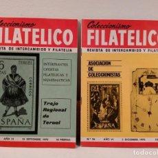 Sellos: COLECCIONISMO FILATÉLICO. 53 (TRAJE REGIONAL DE TERUEL) – 56 (ASOCIACIÓN DE COLECCIONISTAS).. Lote 205579338