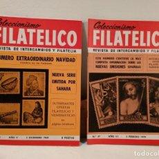 Sellos: COLECCIONISMO FILATÉLICO. 45 (NÚMERO EXTRAORDINARIO NAVIDAD). 47: NUEVAS EMISIONES ESPAÑOLAS. Lote 205580642
