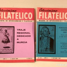 Sellos: COLECCIONISMO FILATÉLICO. 41 (TRAJE REGIONAL DEDICADO A MURCIA). 43 (FORJADORES AMÉRICA 1969.. Lote 205580826