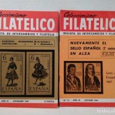 Sellos: COLECCIONISMO FILATÉLICO. 20 (APARICIONES CÁCERES Y CASTELLÓN).- 21 SERIE FORJADORES 1967. Lote 205595830