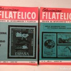 Sellos: COLECCIONISMO FILATÉLICO. 17 (DÍA NACIONAL DE CARIDAD 1967) -19 (AMPLIA INFORMACIÓN. Lote 205595957