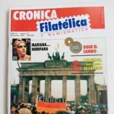 Sellos: REVISTA CRÓNICA FILATÉLICA Y NUMISMÁTICA N 72, 1990. Lote 207011473
