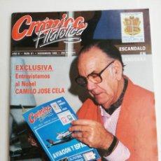 Sellos: REVISTA CRÓNICA FILATÉLICA. N 61, 1989 CAMILO JOSÉ CELA. Lote 207012665
