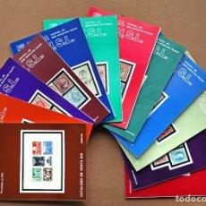 Sellos: CATÁLOGOS DE VENTA DE SOLER Y LLACH, AÑO 1993 COMPLETO. 12 VOLS.. Lote 207659471