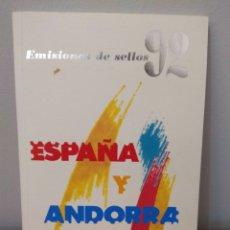 Timbres: SELLOS: ESPAÑA Y ANDORRA '92. Lote 208135070