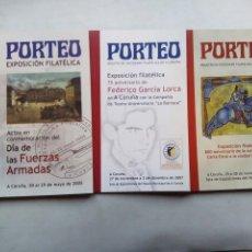 Sellos: PORTEO. BOLETÍN DE LA SOCIEDAD FILATÉLICA DE A CORUÑA. LOTE DE 3 Nº. ESPAÑA. LORCA. FUERZAS ARMADAS.. Lote 209845532