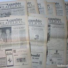 Timbres: REVISTA CAMBIO FILATELICO, LOTE NUMEROS 1 AL 10 1983-1984. Lote 210319462