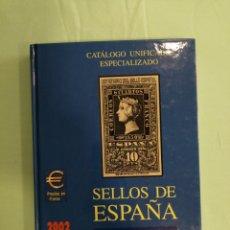 Francobolli: CATALOGO ESPECIALIZADO ESPAÑA AÑO 2002 DE 1950 A 2001. Lote 212164342