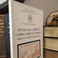 Sellos: ESTUDIO DE LA SERIE DE CORREO AÉREO EMISION FOURNIER DE BURGOS 1939. Lote 212477163