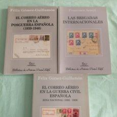 Sellos: LOTE DE 3 LIBROS COLECCION BIBLIOTECA HISTORIA POSTAL. Lote 269186603