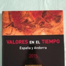 Francobolli: LIBRO DE CORREOS VALORES EN EL TIEMPO 2015 SIN SELLOS. Lote 214008875