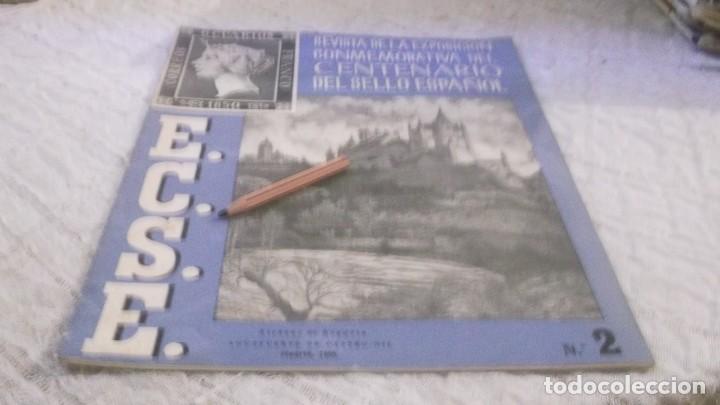 REVISTA DE LA EXPOSICION CONMEMORATIVA DEL CENTENARIO DEL SELLO ESPAÑOL- Nº 2 - MADRID 1950 (Filatelia - Sellos - Catálogos y Libros)