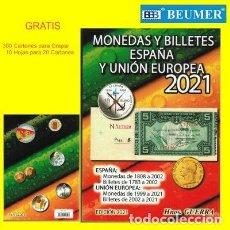 Sellos: CATALOGO GUERRA DE MONEDAS Y BILLETES ESPAÑA Y UNIÓN EUROPEA 2021. Lote 218079645