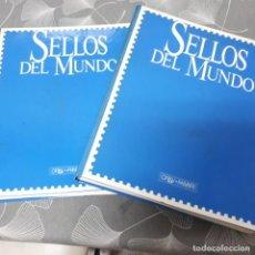 Sellos: SELLOS DEL MUNDO - 2 ARCHIVADORES (VER DESCRIPCION E IMAGENES). Lote 218283930