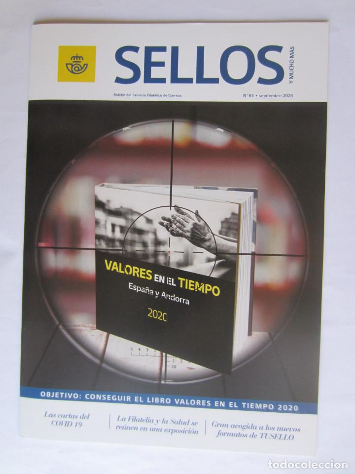 BOLETIN DEL SERVICIO FILATELICO DE CORREOS. SELLOS Y MUCHO MAS. Nº 61. 32 PAGINAS SEPTIEMBRE 2020 (Filatelia - Sellos - Catálogos y Libros)