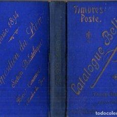 Sellos: CATALOGUE BELIN TIMBRES POSTE (1899). Lote 218521902