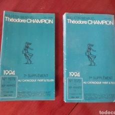 Sellos: CATÁLOGO DE SELLOS 1994. TEODORE CHAMPION. EN FRANCÉS.. Lote 218722497
