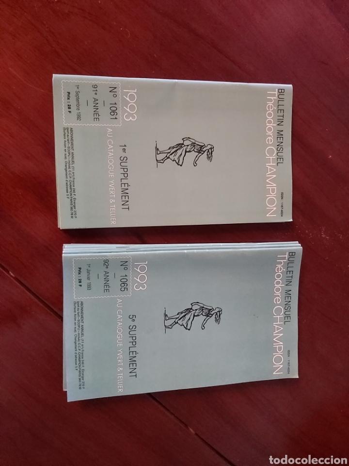 CATÁLOGO DE SELLOS 1993. TEODORE CHAMPION. EN FRANCÉS. (Filatelia - Sellos - Catálogos y Libros)