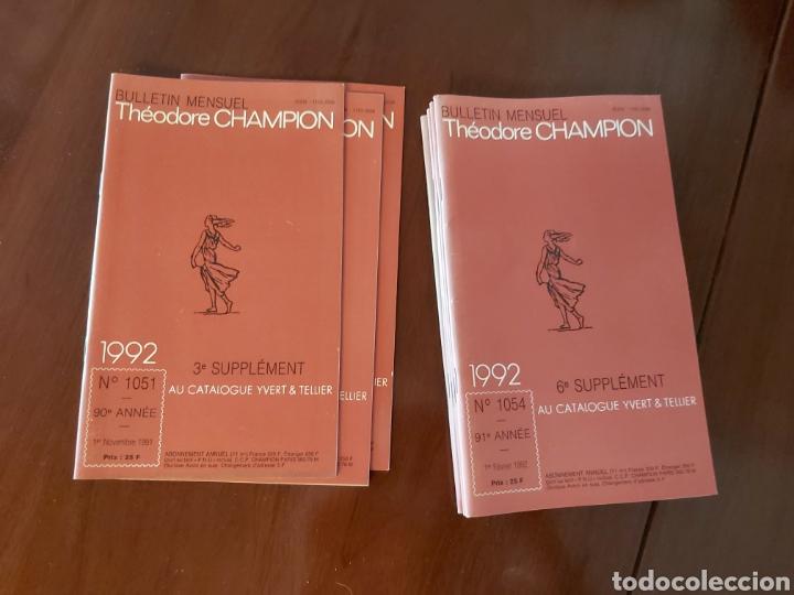 CATÁLOGO DE SELLOS 1992. TEODORE CHAMPION. EN FRANCÉS. (Filatelia - Sellos - Catálogos y Libros)