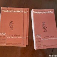 Sellos: CATÁLOGO DE SELLOS 1992. TEODORE CHAMPION. EN FRANCÉS.. Lote 218722842