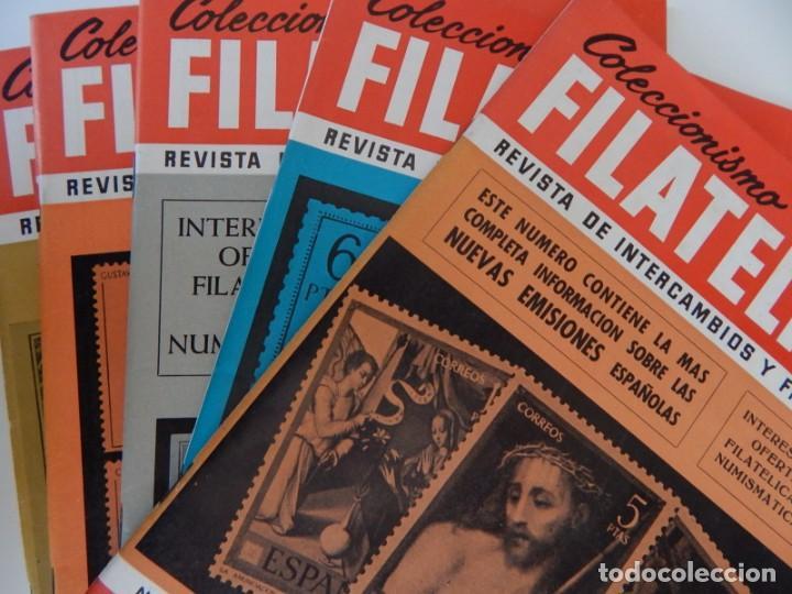 5 REVISTAS / COLECCIONISMO FILATÉLICO REVISTA DE INTERCAMBIOS Y FILATELIA - AÑOS 1970 (4) Y 1971 (Filatelia - Sellos - Catálogos y Libros)