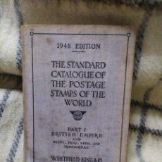 Sellos: 1948. CATÁLOGO DE SELLOS POSTALES DEL MUNDO. IMPERIO BRITÁNICO, EGIPTO, IRAQ, NEPAL Y TRANSJORDANIA.. Lote 219344470