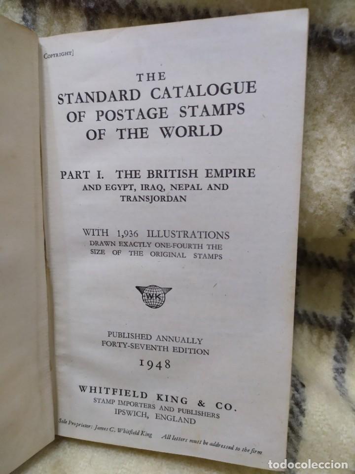 Sellos: 1948. Catálogo de sellos postales del mundo. Imperio Británico, Egipto, Iraq, Nepal y Transjordania. - Foto 2 - 219344470
