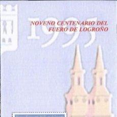 Sellos: 1995 FOLLETO DIPTICO CORREOS NOVENO CENTENARIO DEL FUERO DE LOGROÑO.INFORMACIÓN 2/95. Lote 219494767