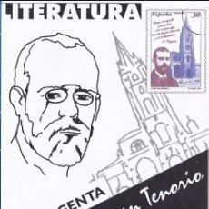 Sellos: FOLLETO DIPTICO CORREOS LITERATURA LA REGENTA/ D.JUAN TENORIO.13-11-96.INFORMAICÓN 21/96. Lote 219496183
