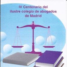Sellos: FOLLETO DIPTICO CORREOS IV CENTENARIO DEL ILUSTRE COLEGIO DE ABOGADOS DE MADRID.23-4-96.INFO 7/96. Lote 219496812