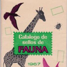 "Sellos: CATALOGO TEMATICO DE FAUNA ANTIGUO ""MUY INTERESANTE"". Lote 220952637"