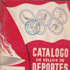 """Sellos: CATALOGO TEMATICO DE DEPORTES ANTIGUO """"MUY INTERESANTE"""". Lote 220952938"""