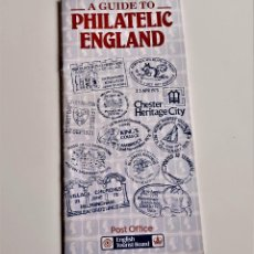 Sellos: A GUIDE TO PHILATELIC ANGLAND - 10 X 21.CM. Lote 221827161