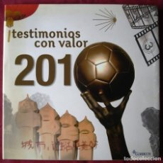 Sellos: TESTIMONIOS CON VALOR 2010. LIBRO DE SELLOS DE ESPAÑA Y ANDORRA. COMPLETO Y COMO NUEVO.. Lote 222180917