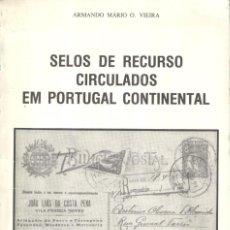 Sellos: SELOS DE RECURSO CIRCULADOS EN PORTUGAL CONTINENTAL - 1987 - ARMANDO MÁRIO O. VIEIRA. Lote 222238780
