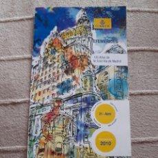 Sellos: FOLLETO DIPTICO CORREOS EFEMERIDES 2010 100 AÑOS DE LA GRAN VIA DE MADRID. Lote 222569706