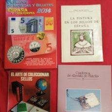 Francobolli: LOTE DE 4 LIBROS. Lote 224866503
