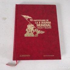 Francobolli: LIBRO DE SELLOS Y BILLETES, 70 ANIVERSARIO DE LA II GUERRA MUNDIAL, EL MUNDO, 2009, NAVARRA. Lote 225519200